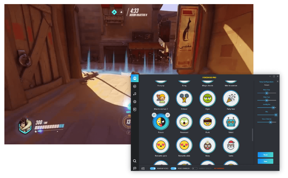 How to use voice changer in Overwatch