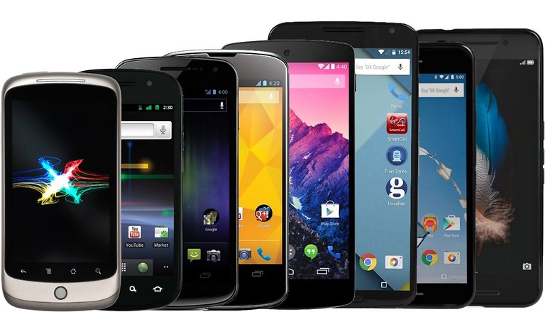Evolution of Nexus phones