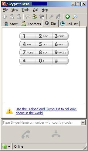 skype beta screenchot