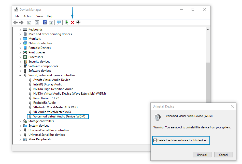 I can't install the Voicemod driver in Windows 10 (or is not working):