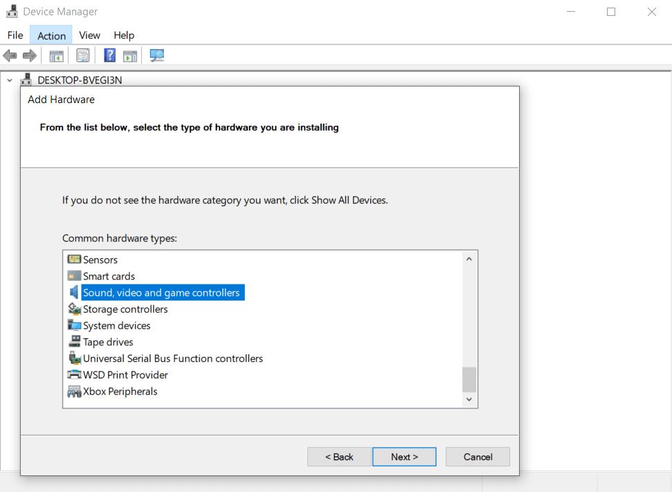 Select Sound Controller